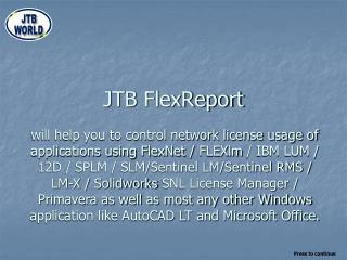 JTB  FlexReport