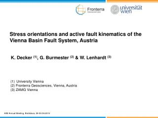 Stress orientations and active fault kinematics of the Vienna Basin Fault System, Austria