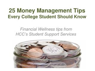25 Money Management Tips  Every College Student Should Know