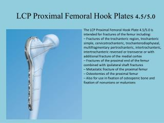 LCP Proximal Femoral Hook Plates 4.5/5.0