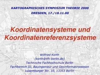 Koordinatensysteme und Koordinatenreferenzsysteme