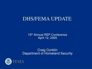 DHS/FEMA UPDATE