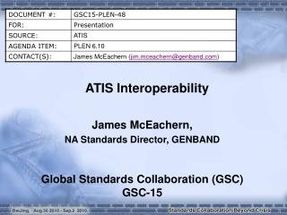 ATIS Interoperability