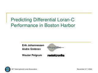 Predicting Differential Loran-C Performance in Boston Harbor