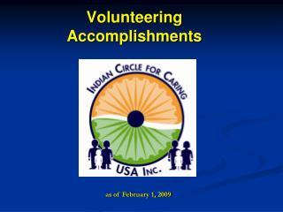 Volunteering Accomplishments