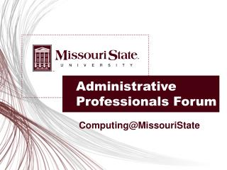 Administrative Professionals Forum
