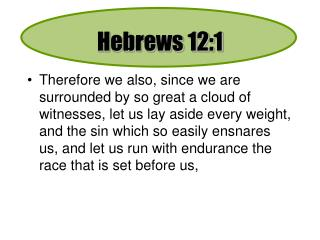 Hebrews 12:1