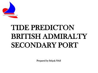 TIDE PREDICTON BRITISH ADMIRALTY SECONDARY PORT