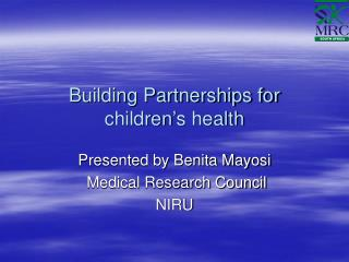 Building Partnerships for children's health