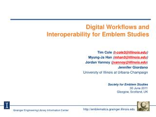 Digital Workflows and  Interoperability for Emblem Studies