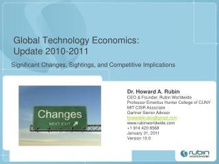 Global Technology Economics: Update 2010-2011