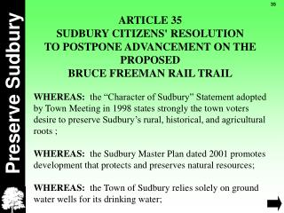 Preserve Sudbury