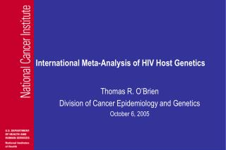 International Meta-Analysis of HIV Host Genetics