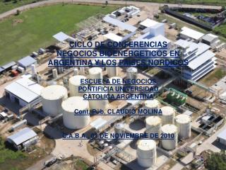 CICLO DE CONFERENCIAS NEGOCIOS BIOENERGETICOS EN ARGENTINA Y LOS PAISES NORDICOS