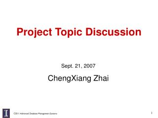 Project Topic Discussion