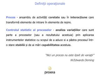Defini ţii operaţionale