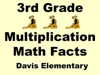 3rd Grade Multiplication Math Facts