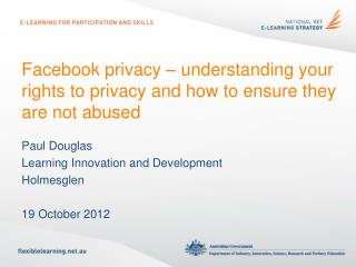 Facebook privacy  –  understanding your rights to privacy and how to ensure they are not abused