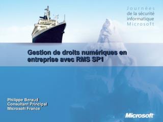 Gestion de droits num riques en entreprise avec RMS SP1