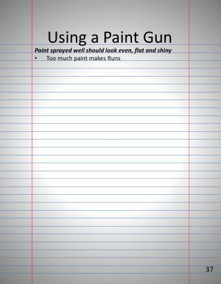 Using  a Paint Gun