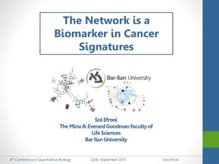 The Network is a Biomarker in Cancer Signatures