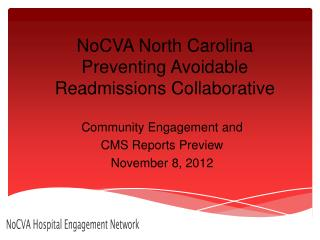NoCVA  North Carolina Preventing Avoidable Readmissions Collaborative