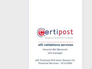 EID validations services