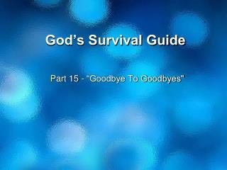 God�s Survival Guide
