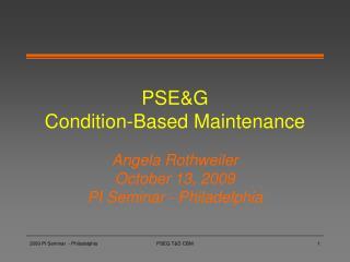 PSEG  Condition-Based Maintenance
