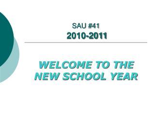 SAU #41 2010-2011