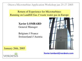Return of Experience for Microturbines  Running on Landfill Gas // waste water gas in Europe