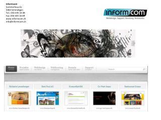Inhaltsverzeichnis: Werdegang der Informcom Web Kundenliste Abgeschlossen Projekte in der