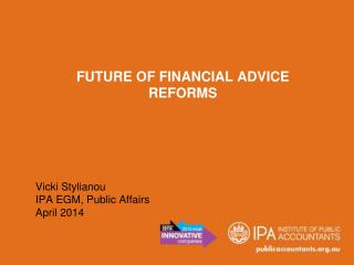 Future of Financial Advice  Reforms
