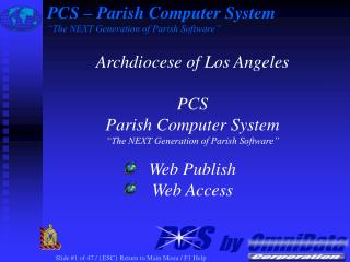 "PCS – Parish Computer System ""The NEXT Generation of Parish Software"""