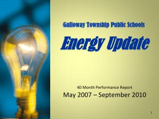 Galloway Township Public Schools Energy Update