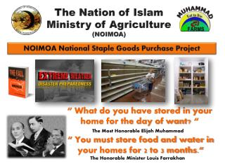 NOIMOA National Staple Goods Purchase Project