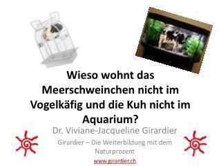 Wieso wohnt das Meerschweinchen nicht im Vogelkäfig und die Kuh nicht im Aquarium?