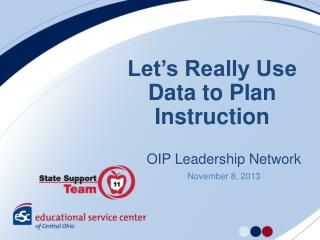 Let's Really Use Data to Plan Instruction