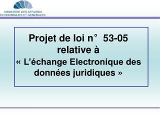 Projet de loi n°53-05   relative à «  L'échange Electronique des données juridiques »