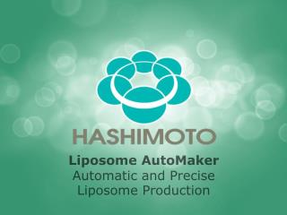 Liposome AutoMaker Automatic and Precise  Liposome Production