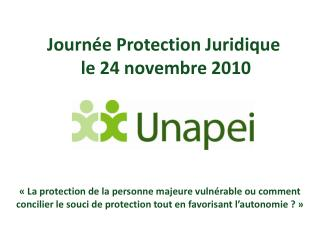 Journ e Protection Juridique  le 24 novembre 2010