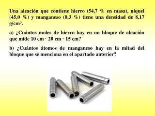 Primero calculo el volumen del bloque: V = abc