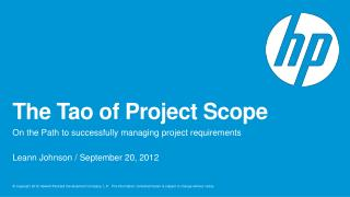 The Tao of Project Scope