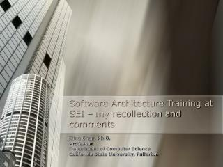 Software Architecture Training at SEI