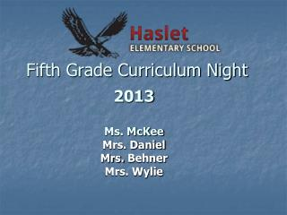 Fifth Grade Curriculum Night