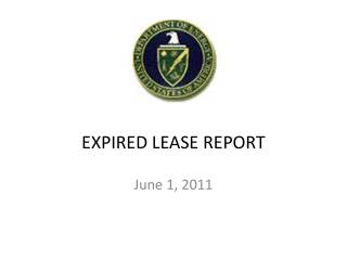EXPIRED LEASE REPORT