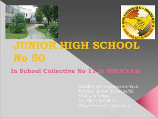 JUNIOR HIGH SCHOOL No 50