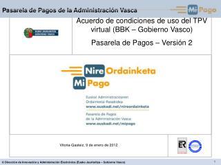 Vitoria-Gasteiz, 9 de enero de 2012