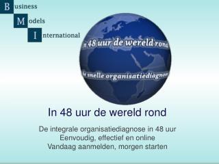 De integrale organisatiediagnose in 48 uur Eenvoudig, effectief en online