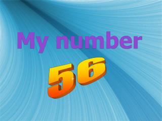 My number